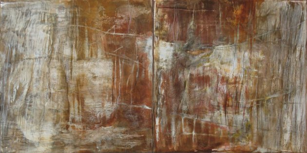 "Canyon Textures IV----12"" x 24"" diptych"