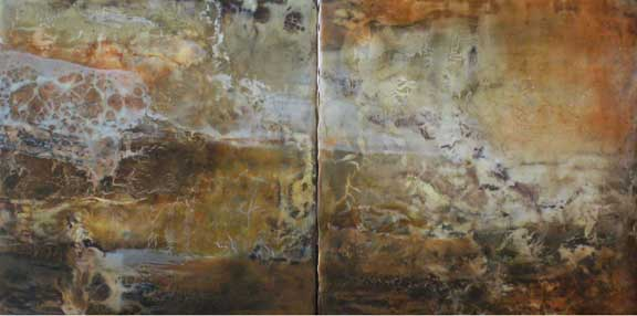 "Canyon Walls Series-Chaco Diptych                                   12"" x 24"""