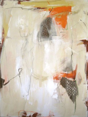 "Gesture 3----48"" x 36""----Acrylic/Collage on Canvas"