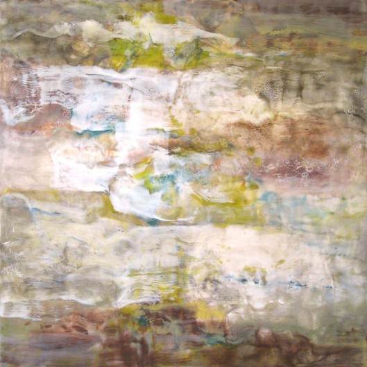 "Lichen-Canyon Walls Series----30"" x 30"" x 2""----Encaustic on Panel"