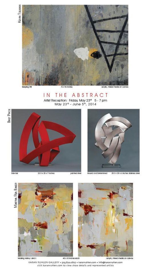 In the Abstract invitation--May 23-June10-Karan Ruhlen Gallery