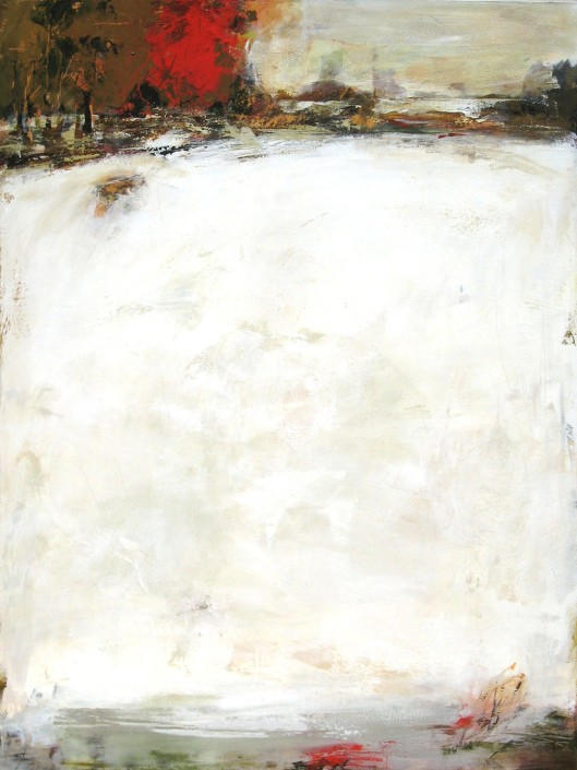 "Winter White----48"" x 36""----Acrylic on Canvas"