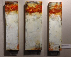 "First Snow Triptych---24"" x 32""---Oil/Cold Wax on Panel"