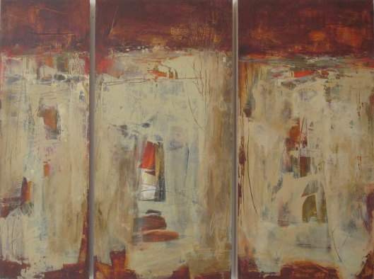 "Into the Woods Triptych---24"" x 32"""