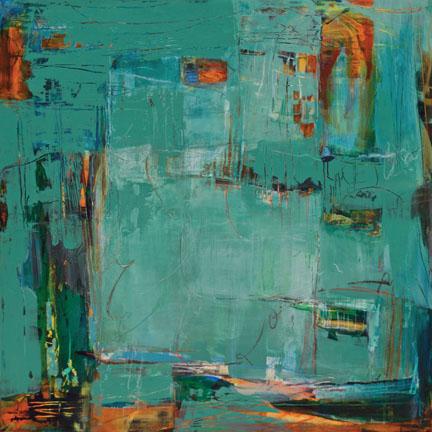"Colores de Malaga VI----30""x 30""----Acrylic on Panel"