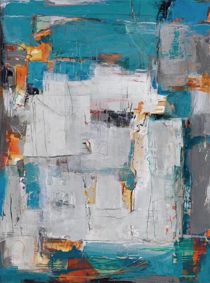 "Pequeno Pueble Blanco----40"" x 30""----Acrylic on Panel"