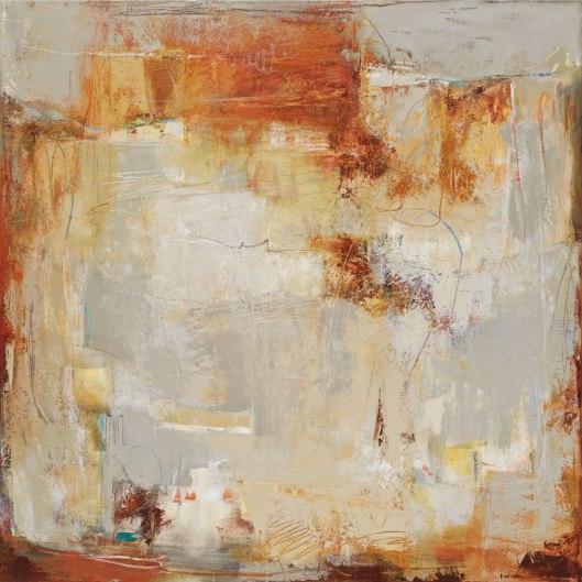 """Barranca IV ---- 48"""" x 48""""---- Oil/ Cold wax on canvas"""