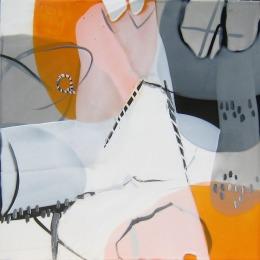 Desert Rhythms VI - Encaustic